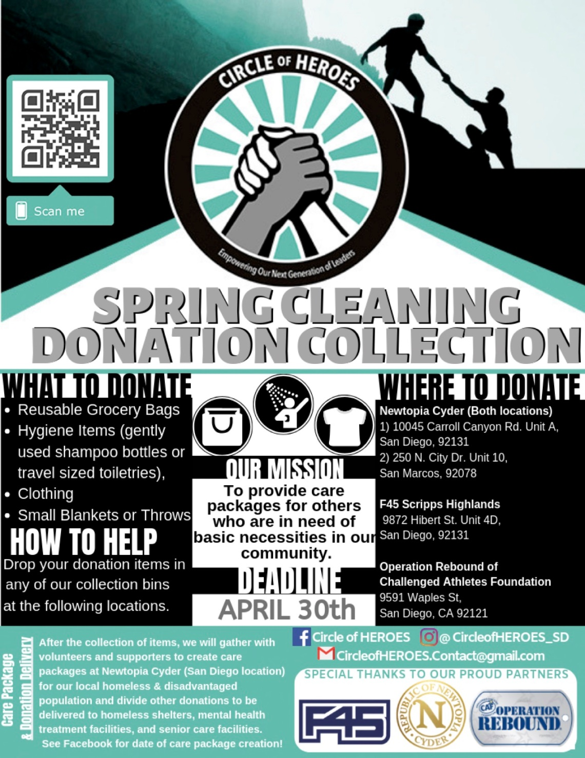 HEROES Flyer-Donation&ClothingDrive2019